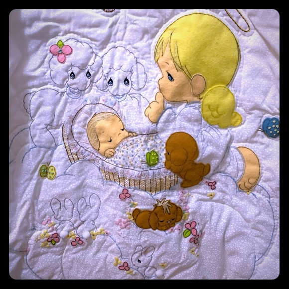 Precious Moments Other - Vintage precious moments baby blanket